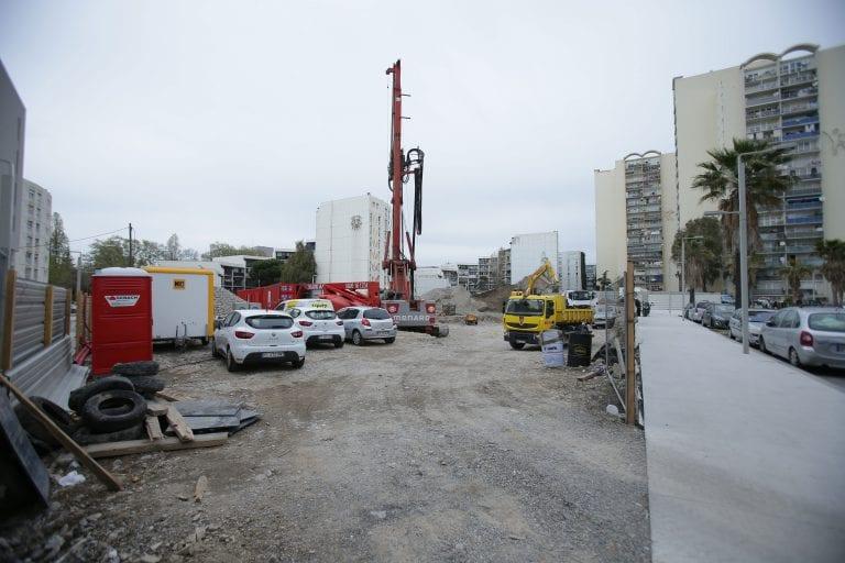 Chantier de construction de la résidence hôtelière